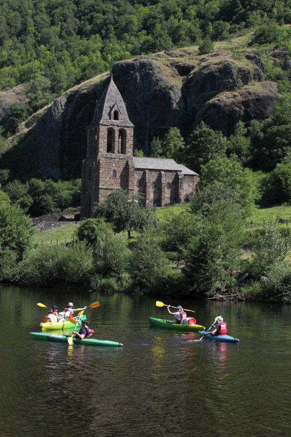 Kayak en Auvergne sur l'Allier