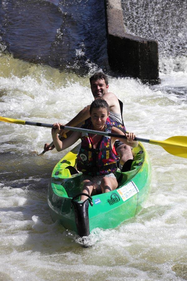 Journée eaux vives en Auvergne sur l'Allier : rafting + canoë