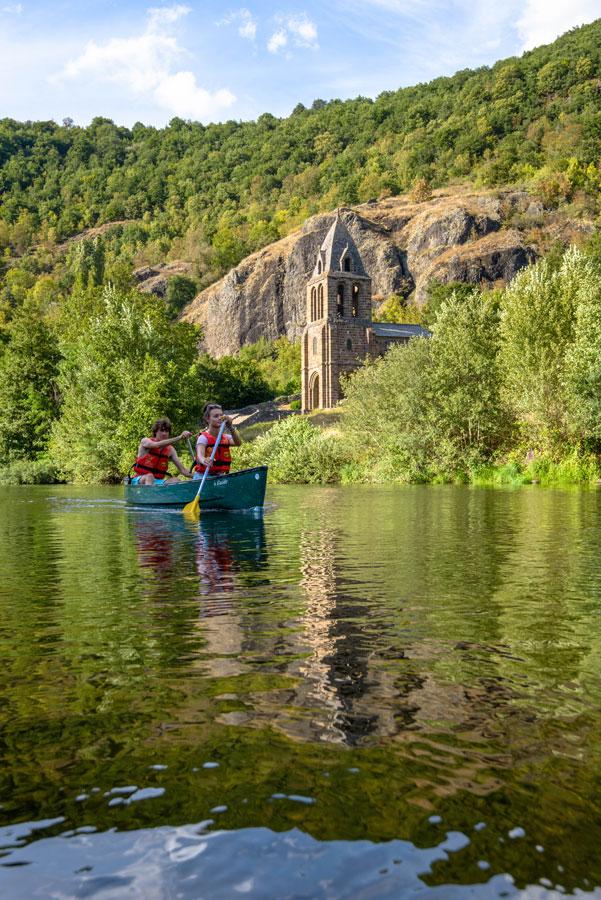 Randonnée en canoë kayak bivouac sur l'Allier en Auvergne